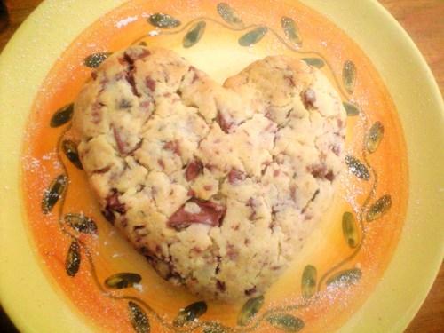 おっきなハートのクッキー